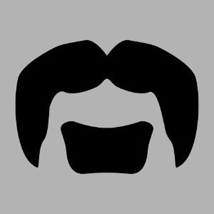 Moustache de rocker à personnaliser en ligne.