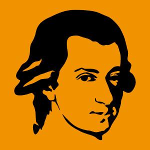 Mozart, portrait personnalisable, un design musique.