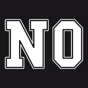 Tee-shirt NO à imprimer soi-même en ligne.