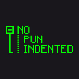 No pun indented, indentation, un design programmeur et pixel art.