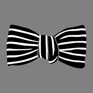 Imprimez un t-shirt avec un faux nœud papillon rayé élégant.