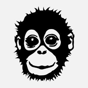 Bébé singe stylisé, un design animaux sauvages.