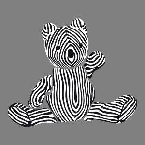 Ourson à rayures, design mignon personnalisable, un design enfant et animaux.