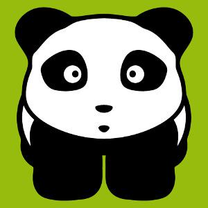 Panda mignon deux couleurs personnalisable spécial impression t-shirt sac et tissu.