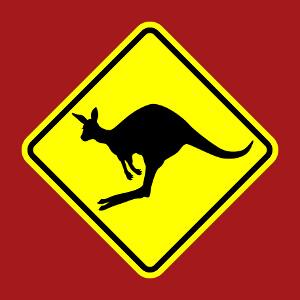 Cadeau Panneau passage de kangourou à imprimer soi-même en ligne.