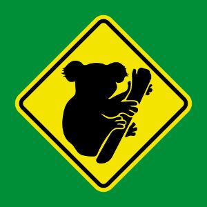 Panneau koala mignon, un design panneau et animaux.