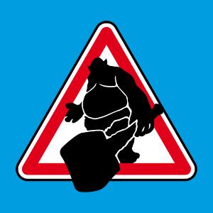 Panneau troll, panneau routier détourné geek.
