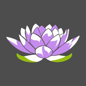 T-shirt Petit lotus bleu stylisé en aplats et découpes personnalisé.