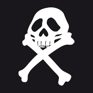 Créez un t-shirt pirate avec cet emblème pirate inspiré du drapeau d'Albator.