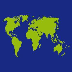 Carte du globe stylisée en format vectoriel à imprimer ne ligne, un design Nature et Ecologie.