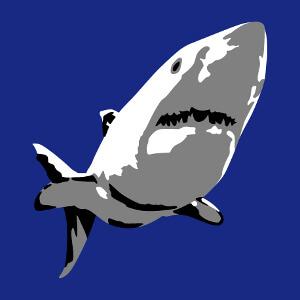Requin blanc en couleurs indexées à personnaliser.