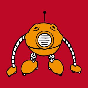 Imprimez un t-shirt robot personnalisé avec ce design de robot boule rigolo.