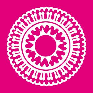 T-shirt Rosace indienne décorative une couleur à imprimer.