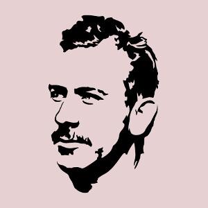 Portrait de Steinbeck à imprimer sur t-shirt ou sur tasse, un design littérature et écriture.