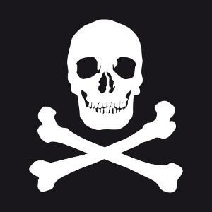 Cadeau Motif tête de mort en format vectoriel à imprimer.