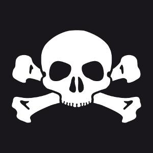 T-shirt Petite tête de mort simplifiée et stylisée à imprimer.