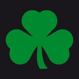 Trèfle irlandais, un design shamrocks et Saint patrick à personnaliser.