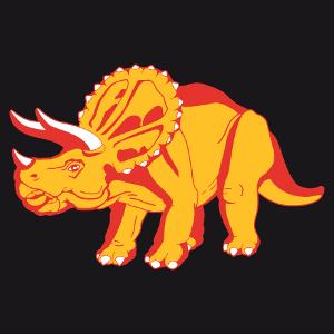 Dinosaure 3 couleurs, t-shirt tricératops à personnaliser soi-même et imprimer en ligne.