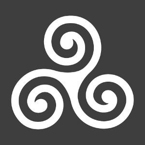 Triskel à empattements et branches fines, un design Bretagne et celte.