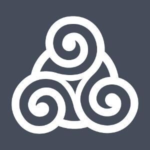 Motif celte à trois branches épaisses, un design Celtique et BZH.