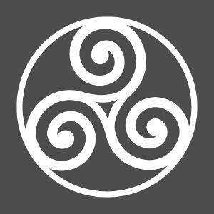 Imprimez votre t-shirt Triskel en ligne avec ce design breton une couleur.