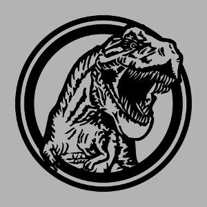 Accessoire T-rex gueule ouverte sortant d'un cercle à designer en ligne.