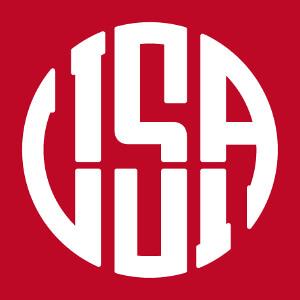 Motif USA graphique aux lettres qui dessinent un cercle élégant.