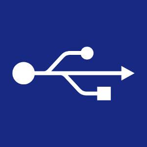 Syigne usb vectorisé à personnaliser en ligne, un design geek et programmeur.
