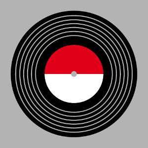 Disque vinyl stylisé à imprimer en ligne, un design musique et vintage.