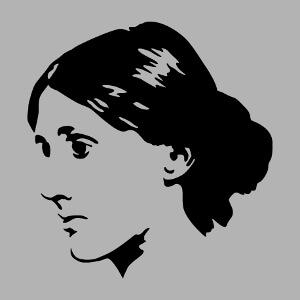 Portrait de Virginia Woolf minimaliste stylisé à personnaliser, un design Littérature et portraits d'écrivains.