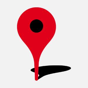 Je suis ici, épingle repère de carte et plan, un design humour et signalisation.