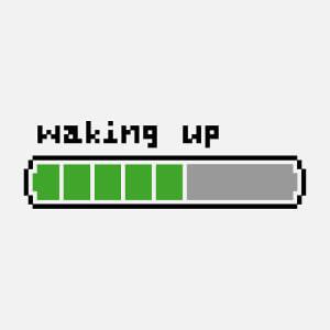T-shirt Waking up à imprimer.