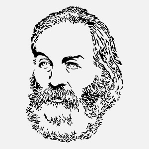 Portrait de Walt Whitman, une illustration Écrivain et poésie.
