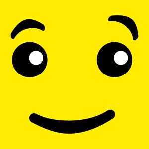 Yeux de bonhomme lego personnalisés, design spécial impression t-shirt.