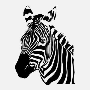 Zèbre à personnaliser, un design Animaux et Animaux sauvages.