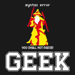 Designs geek pour impression sur t-shirt personnalisé.
