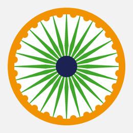 Motifs Inde, drapeaux, décorations indiennes etc. à imprimer soi-même.