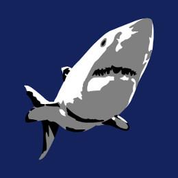 Requin et animaux de la mer à imprimer sur t-shirt.