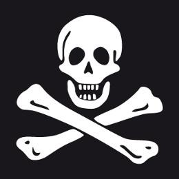 Motifs pirate et piraterie à personnaliser en ligne, crâne, têtes de mort, jolly roger etc.