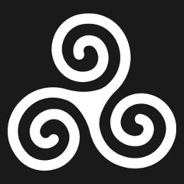 Triskels et motifs celtes, designs spéciaux pour impression t-shirt.