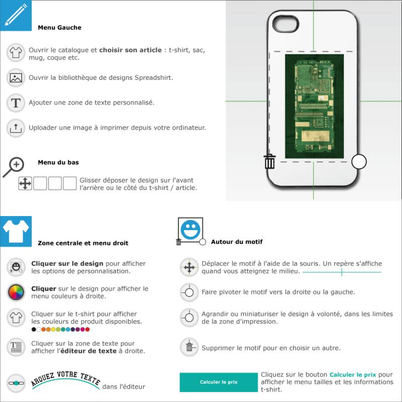 Créer votre coque mobile circuit imprime vert