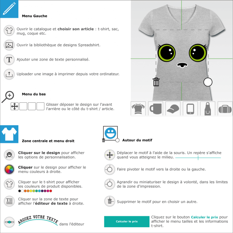 T-shirts  Kitty cat chaton à designer en ligne