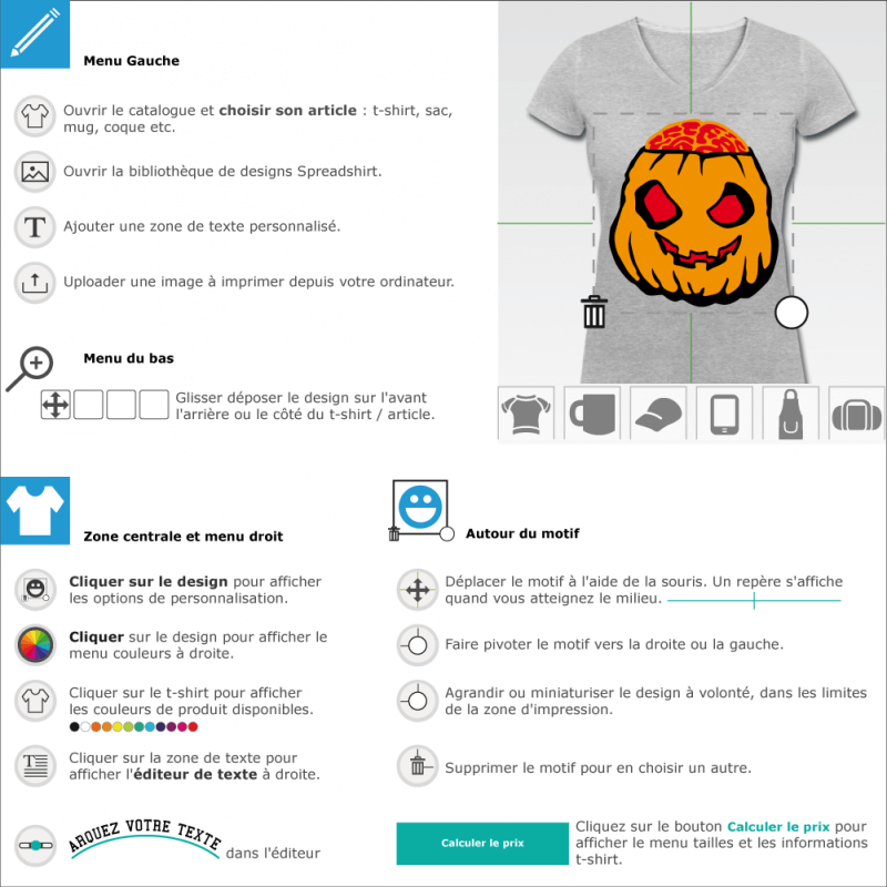 T-shirt Halloween Citrouille halloween customisé
