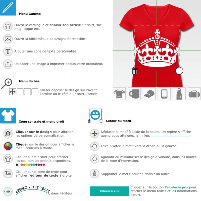 T-shirt Couronne Keep Calm en ligne