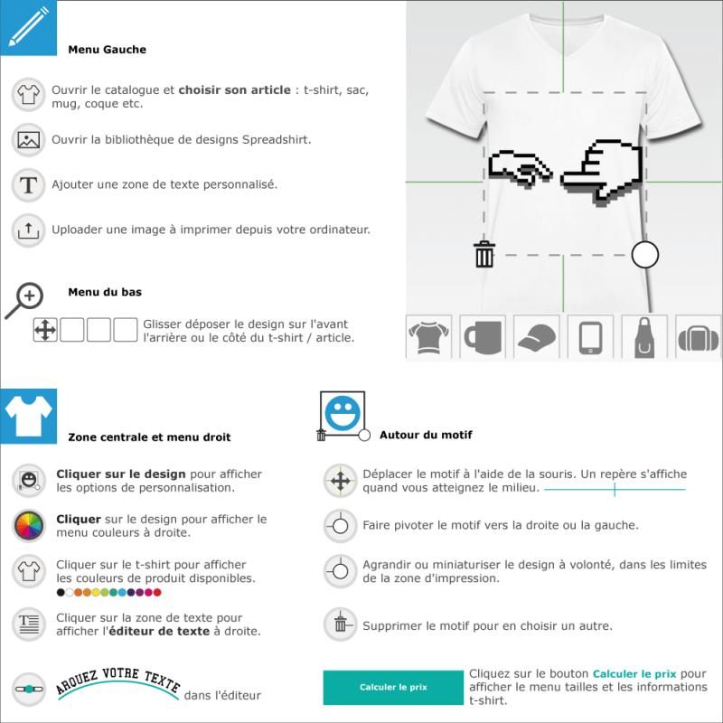 Imprimer un tee shirt La création d'Adam geek à créer et personnaliser en ligne