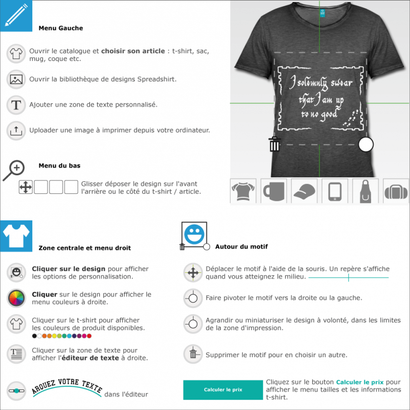 Tee shirt Citations I solemnly swear customisé en ligne