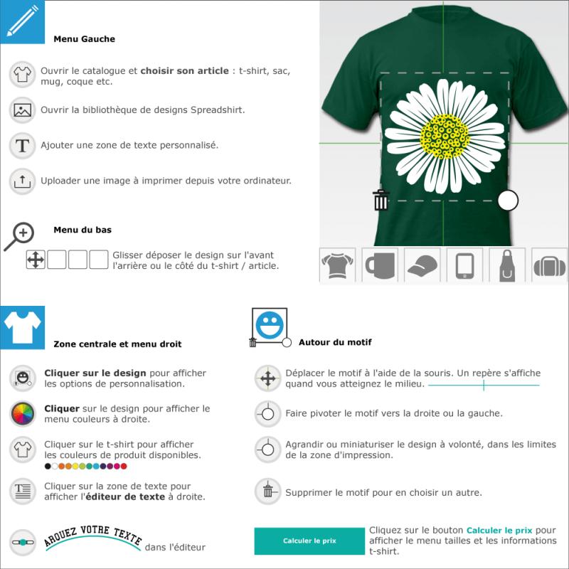 Créer un t-shirt marguerite