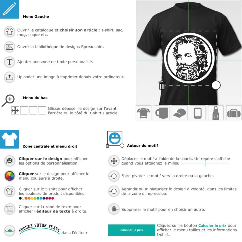 Imprimer votre tee shirt Herman Melville négatif personnalisé