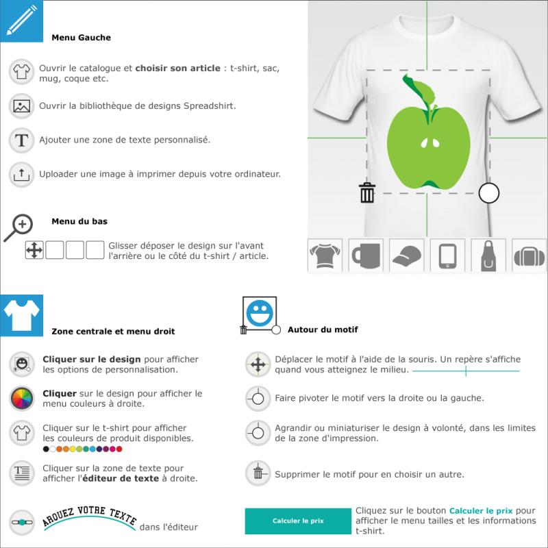 Tee shirts Pomme en ligne