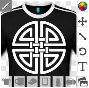 Noeud celtique aux brins doubles entrelacés qui forment un cercle.